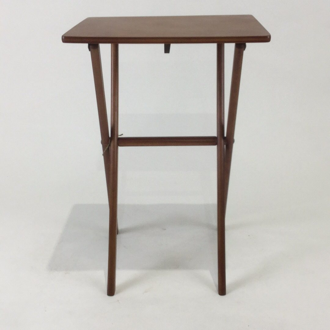 Antique Solid Wood Folding Side Table