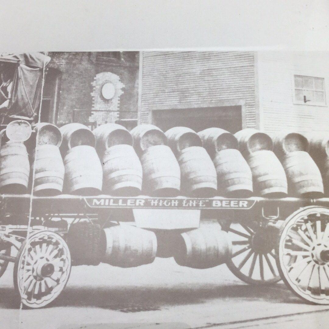 Vintage MILLER HIGH LIFE BEER Horse Drawn Beer Wagon Framed Print 16