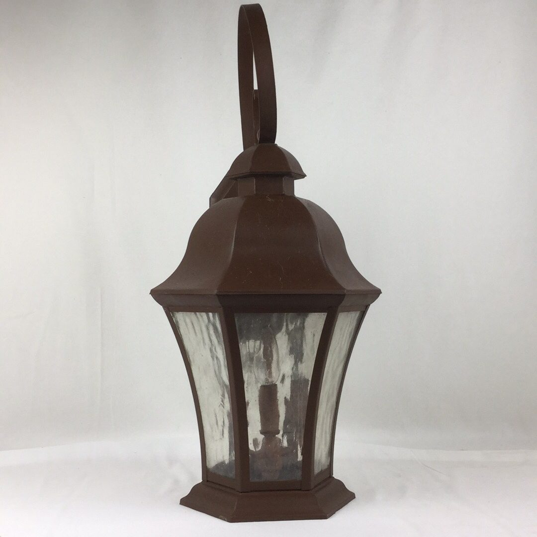 Carriage House Lantern Lamp Wall Mount Lighting Fixture Old Brown Bronze Color As Is 7 5 W X 22 6 H For Sale Wildwood Antique Malls