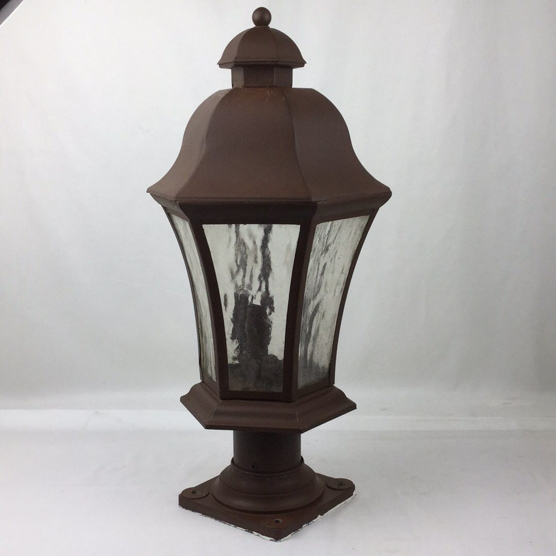 Carriage House Lantern Lamp Post Lighting Fixture Old Brown Bronze Color As Is 6 W X 22 5 H For Sale Wildwood Antique Malls