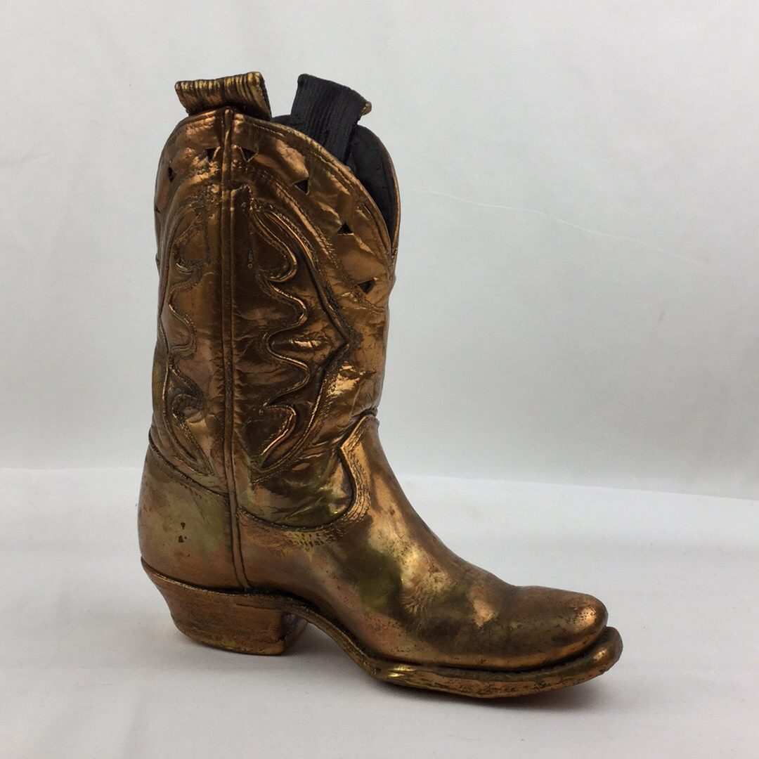 Vintage Copper Plated Cowboy Boot 1950