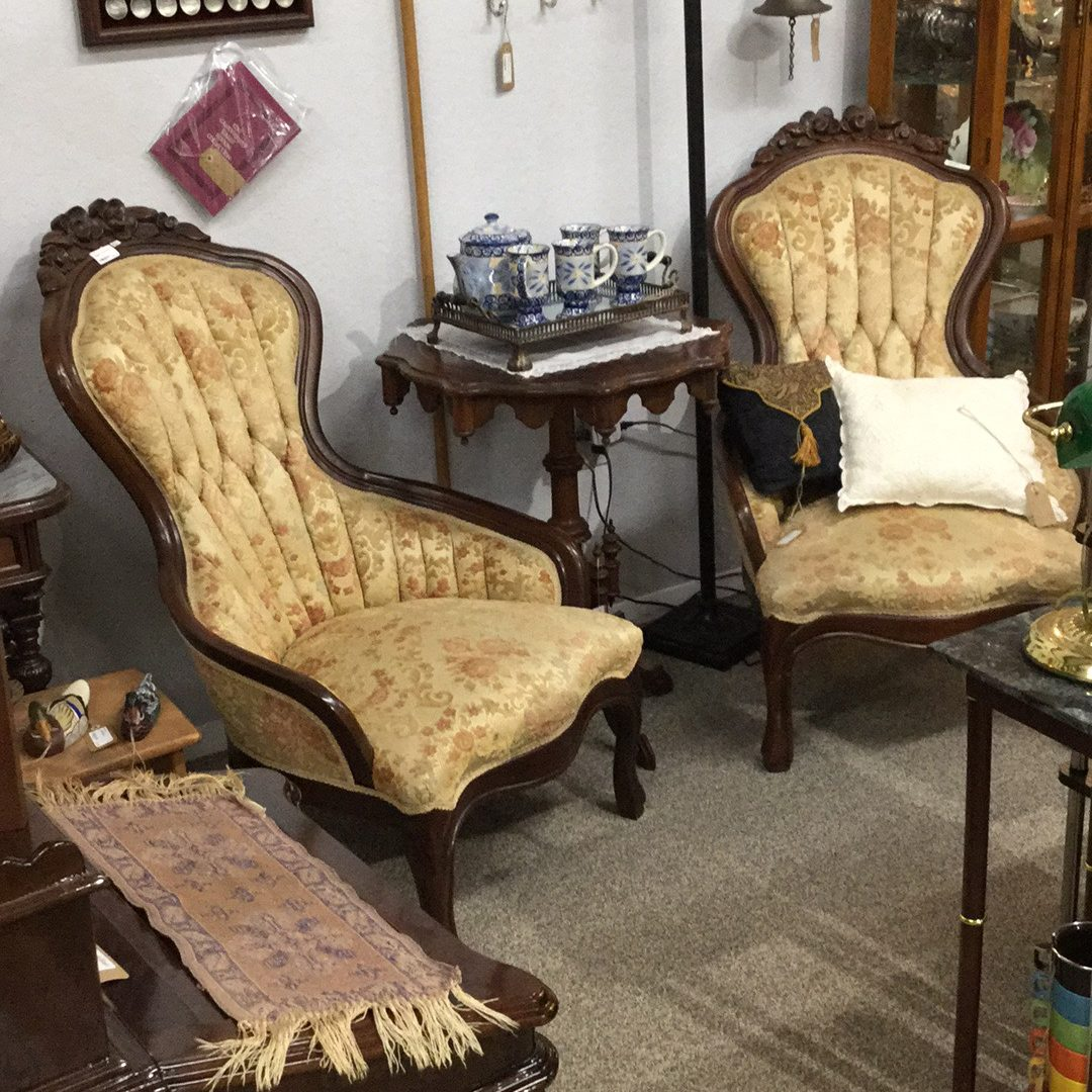 Pair Kimball Victorian Parlor Chairs For Sale Wildwood Antique Malls